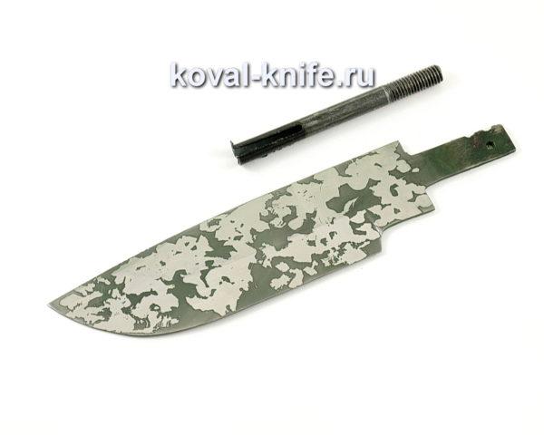 клинок для ножа Барс из кованой стали 95х18 с травлением