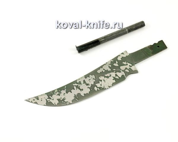 клинок для ножа Ворон из кованой стали 95х18 с травлением
