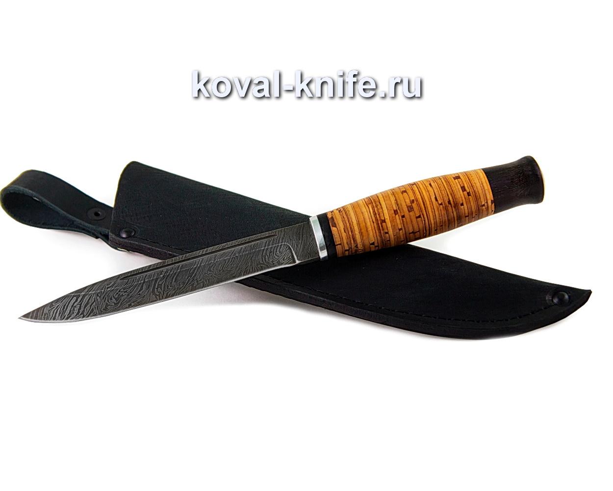 Нож Вишня (дамасская сталь), рукоять береста и граб A345