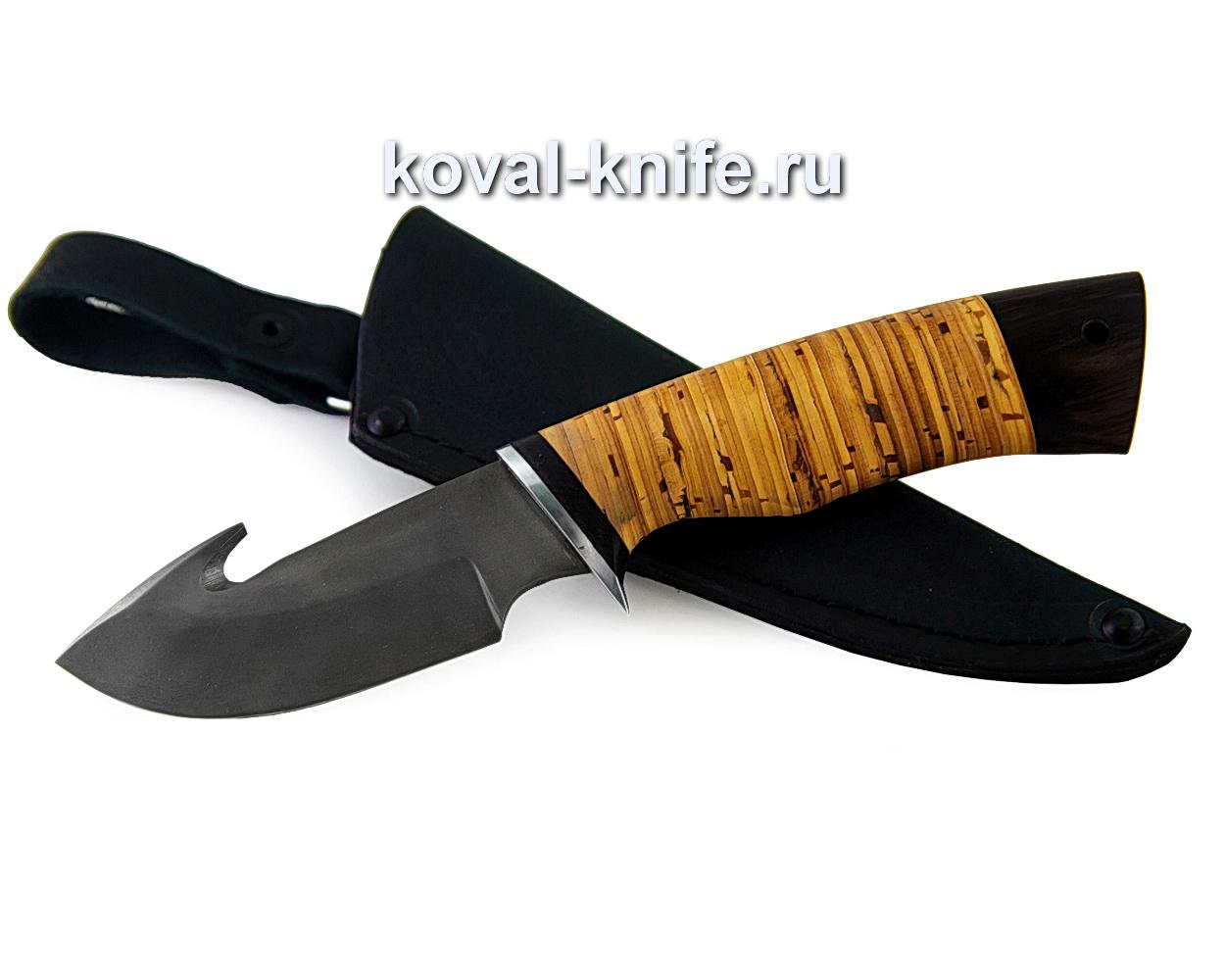 Нож из булатной стали Стропорез (рукоять береста) A380