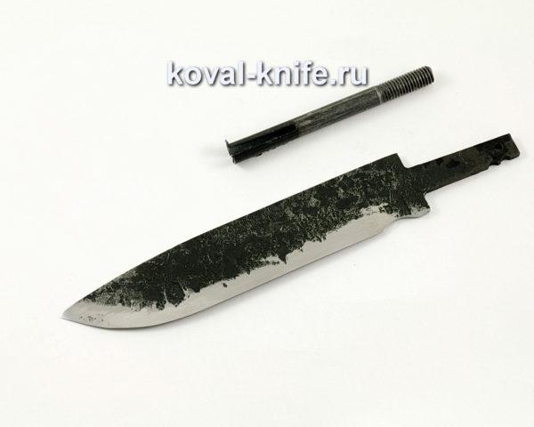 Клинок для ножа из кованой стали 9ХС Турист