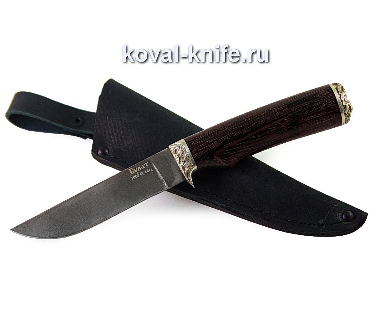 Нож из булатной стали Белка (рукоять венге, литье мельхиор)