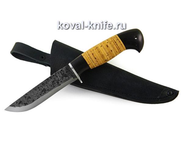 Нож Белка из кованой стали 9хс рукоять из граба и бересты