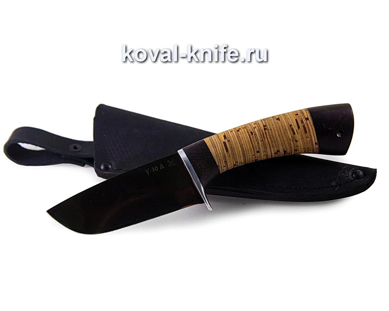 Нож Бобр из стали У10А (рукоять береста) A360