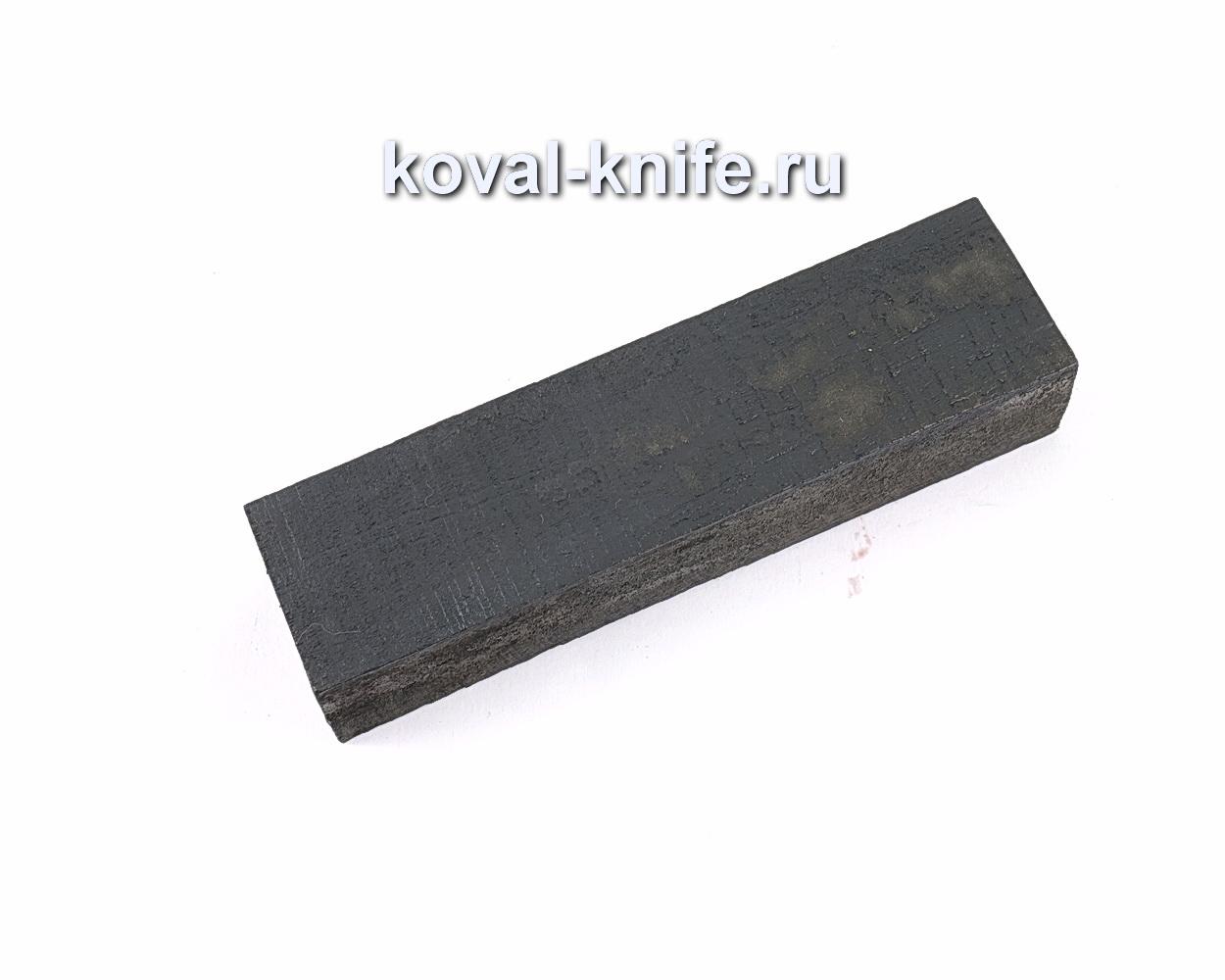 Брусок Граб черный для рукоятки ножа
