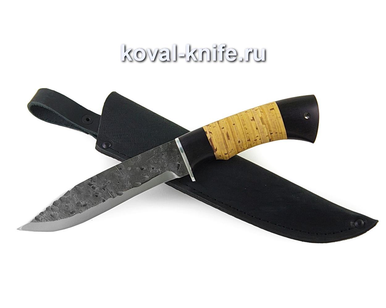 Нож Викинг из кованой стали 9хс (рукоять береста и граб) A370
