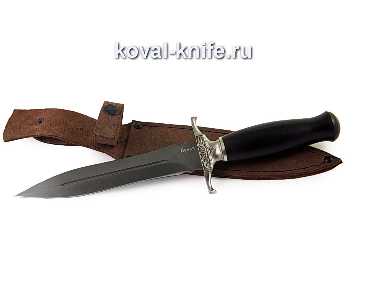 Нож из булатной стали Кардинал (рукоять граб, литье мельхиор) A379