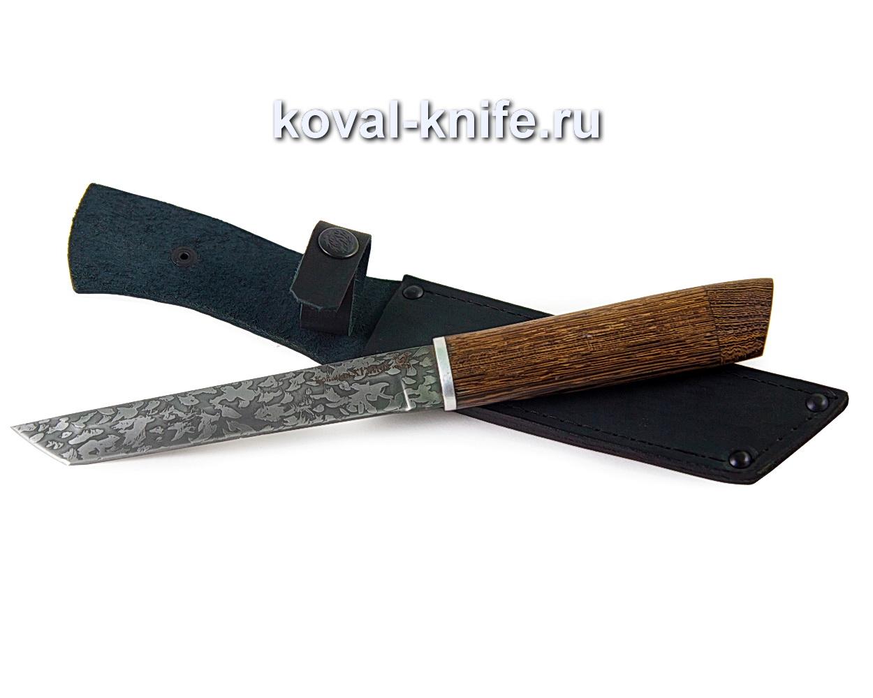 Нож Кобун из стали х12мф, (рукоять венге, травление клинка) A356