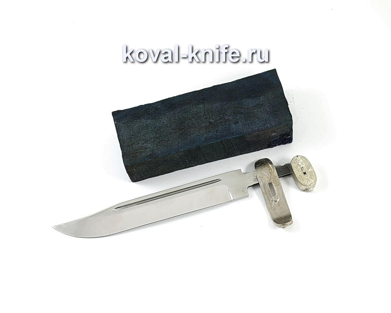 Комплект для ножа НР-40 2 (клинок кованая 95х18 3,5-5мм, литье 2шт., граб брусок)