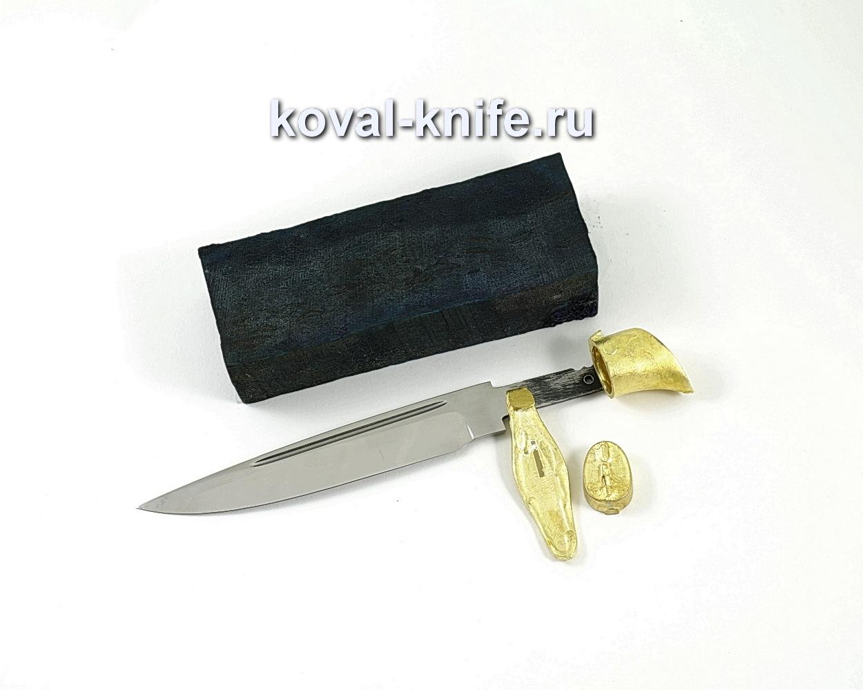 Комплект для финки НКВД 2 (клинок кованая 95х18 2,4мм, литье 3шт., граб брусок)