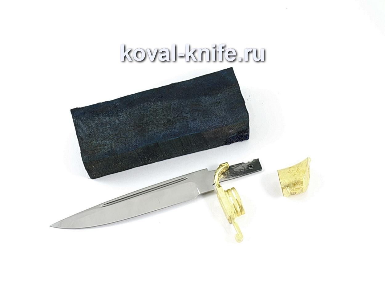 Комплект для финки НКВД 4 (клинок кованая 95х18 3,5мм, литье 2шт., граб брусок)