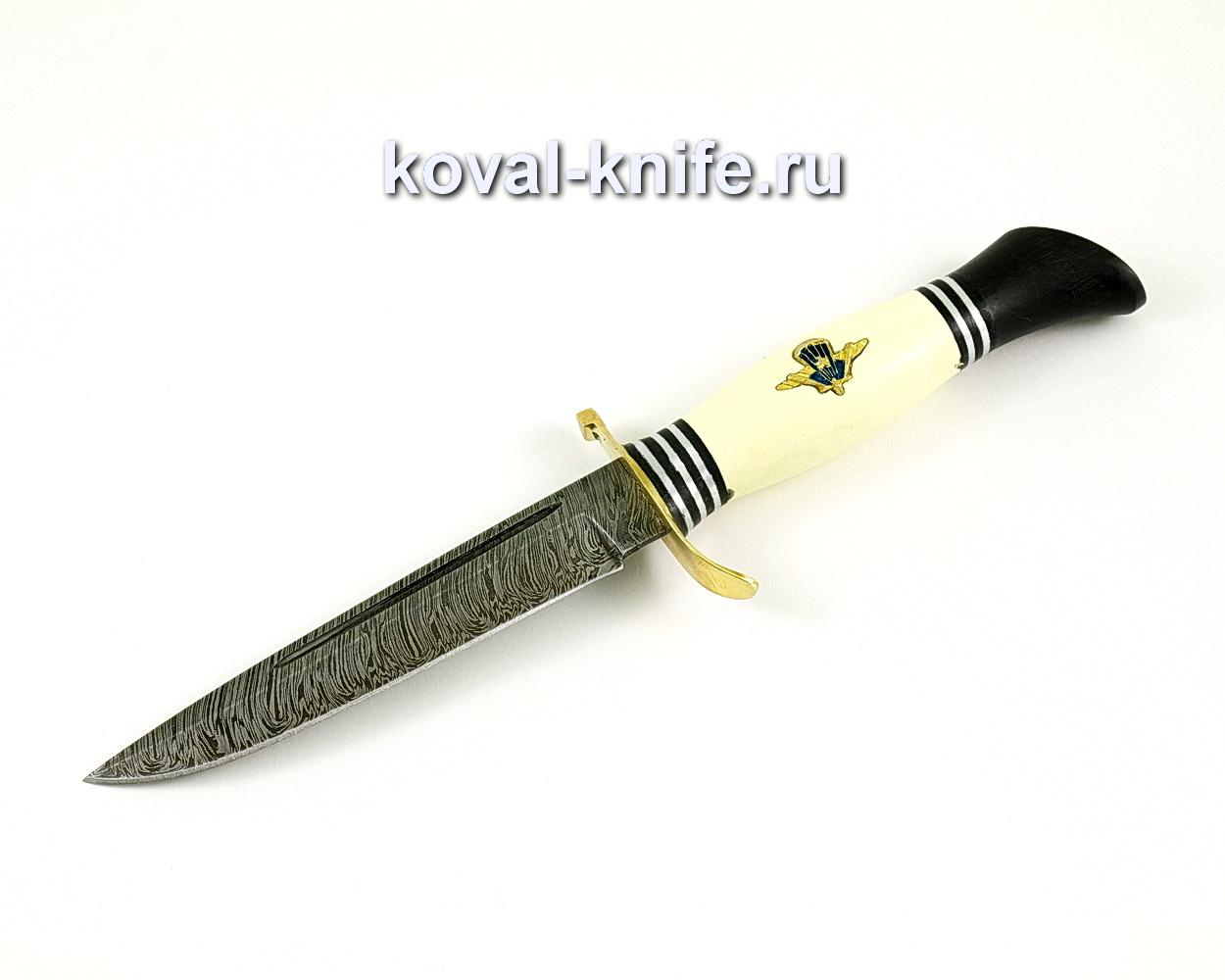 Нож Финка НКВД со знаком ВДВ из дамасской стали