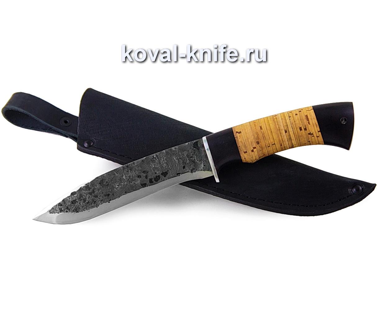Нож Олимп из кованой стали 9хс (рукоять береста и граб)