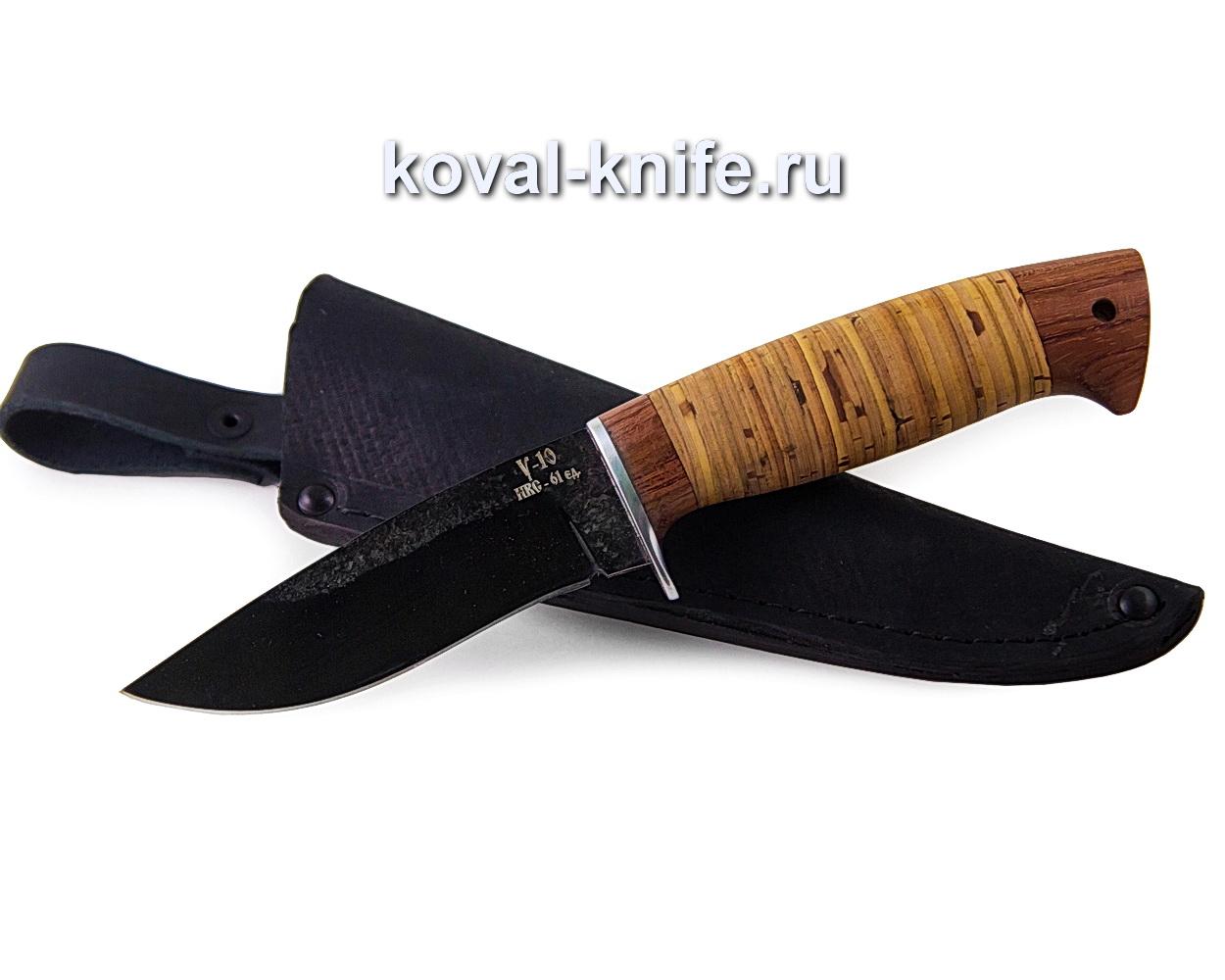 Нож Сапсан из стали У10 (рукоять береста) A361
