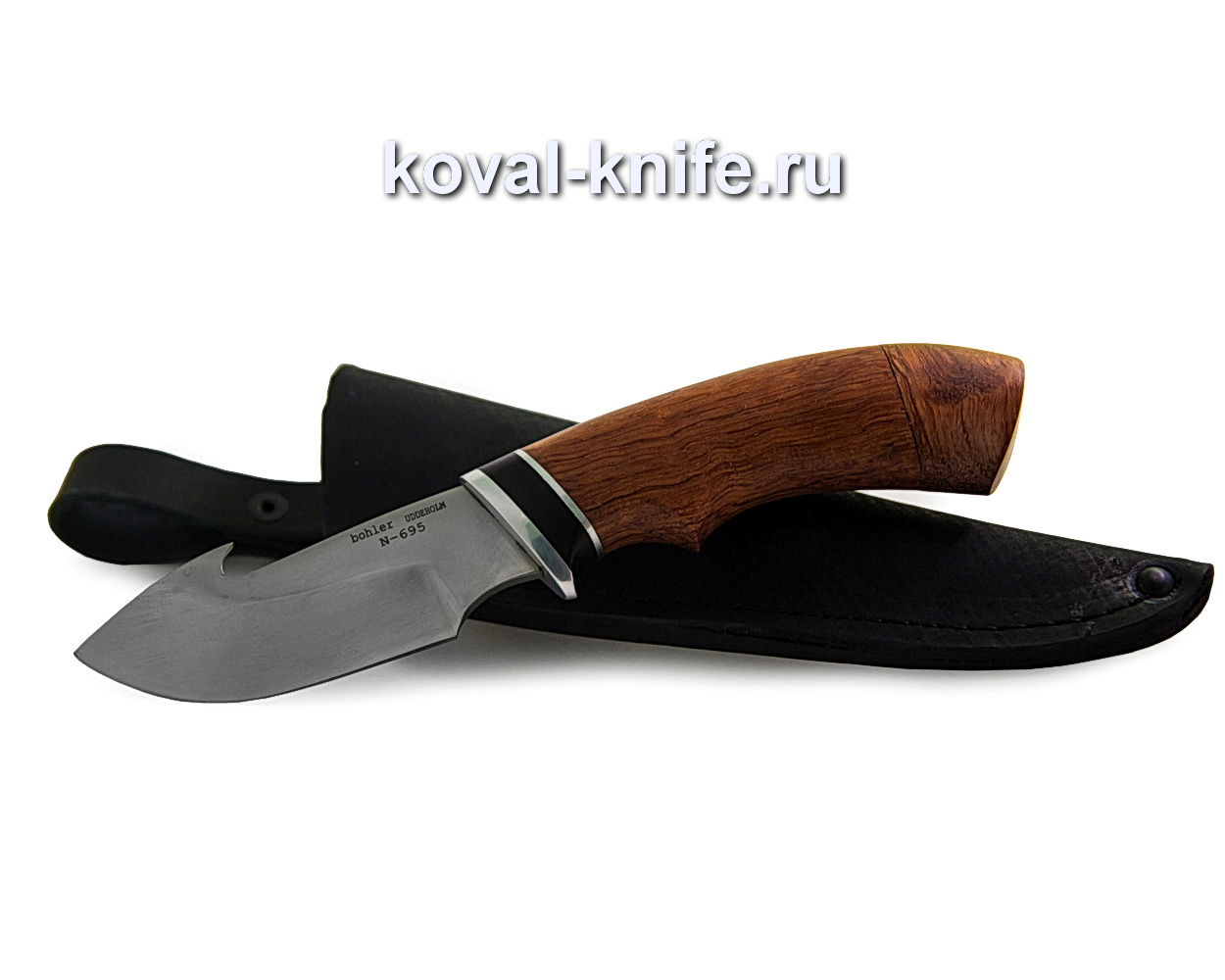 Нож из нержавеющей стали N695 Стропорез (Bohler N695, рукоять орех) A337