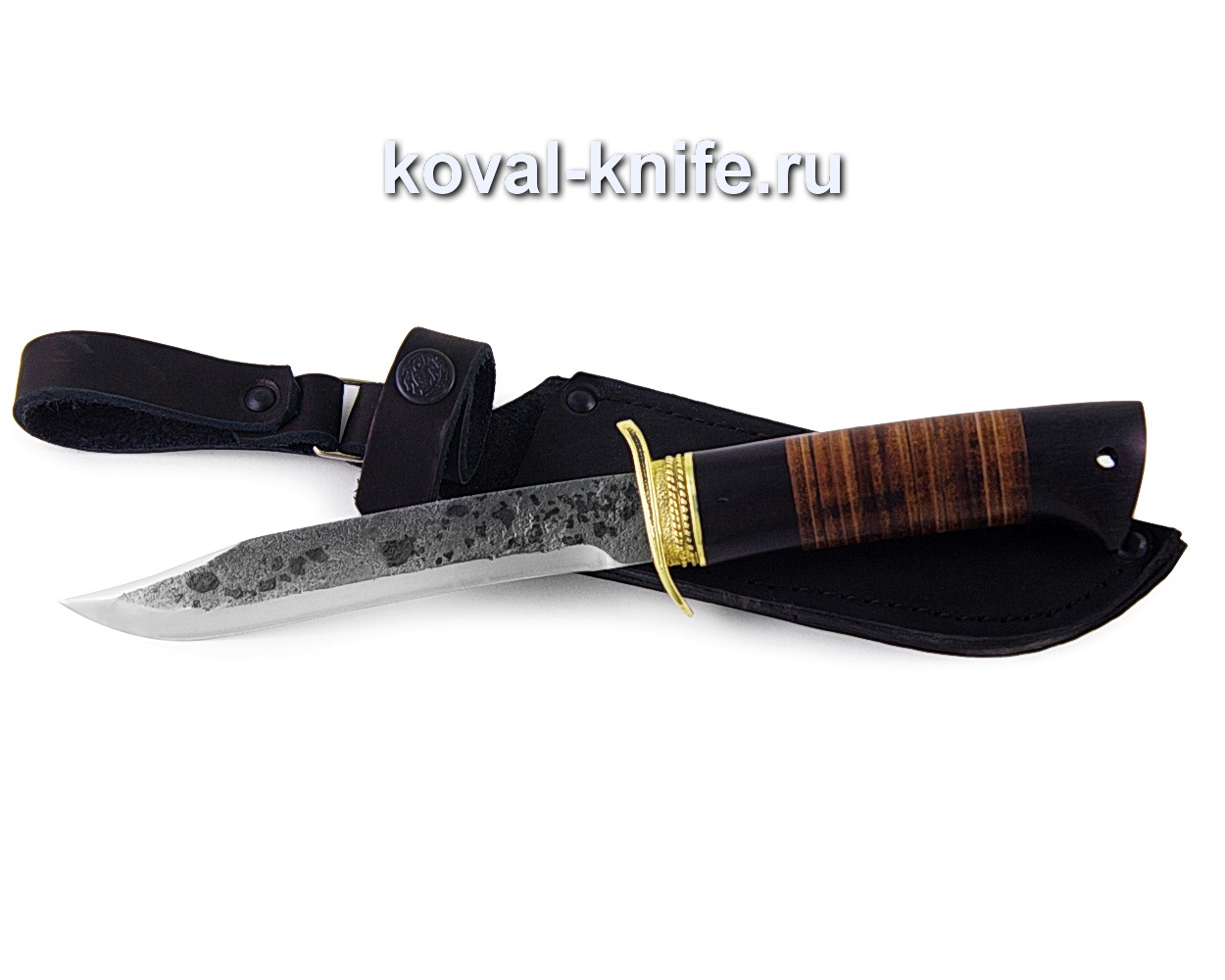 Нож Штрафбат из стали 9хс с рукоятью из кожи (Реплика Ножа НР-40) A374