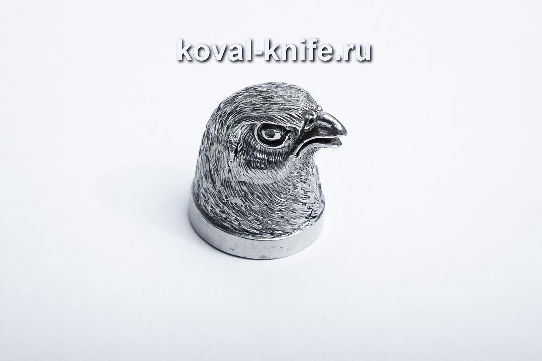 Литье для шампура 117 Голова — Птица, круглое примыкание. Диаметр D 28мм.