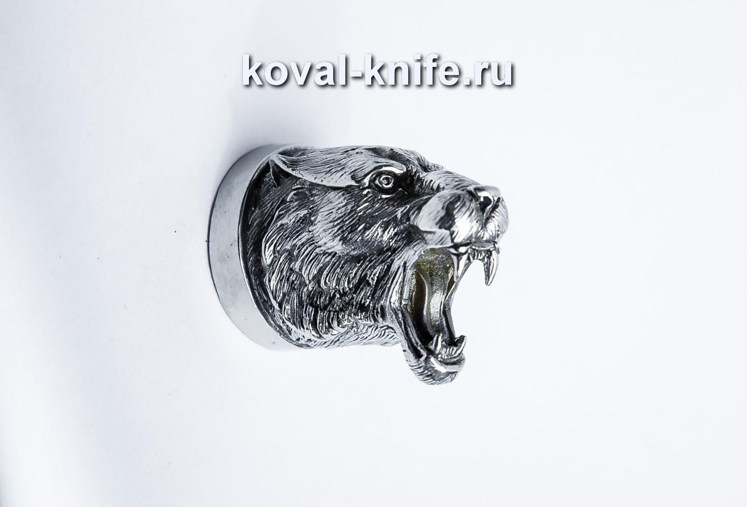 Литье для шампура 118 Голова — Тигра, круглое примыкание. Диаметр D 28мм.