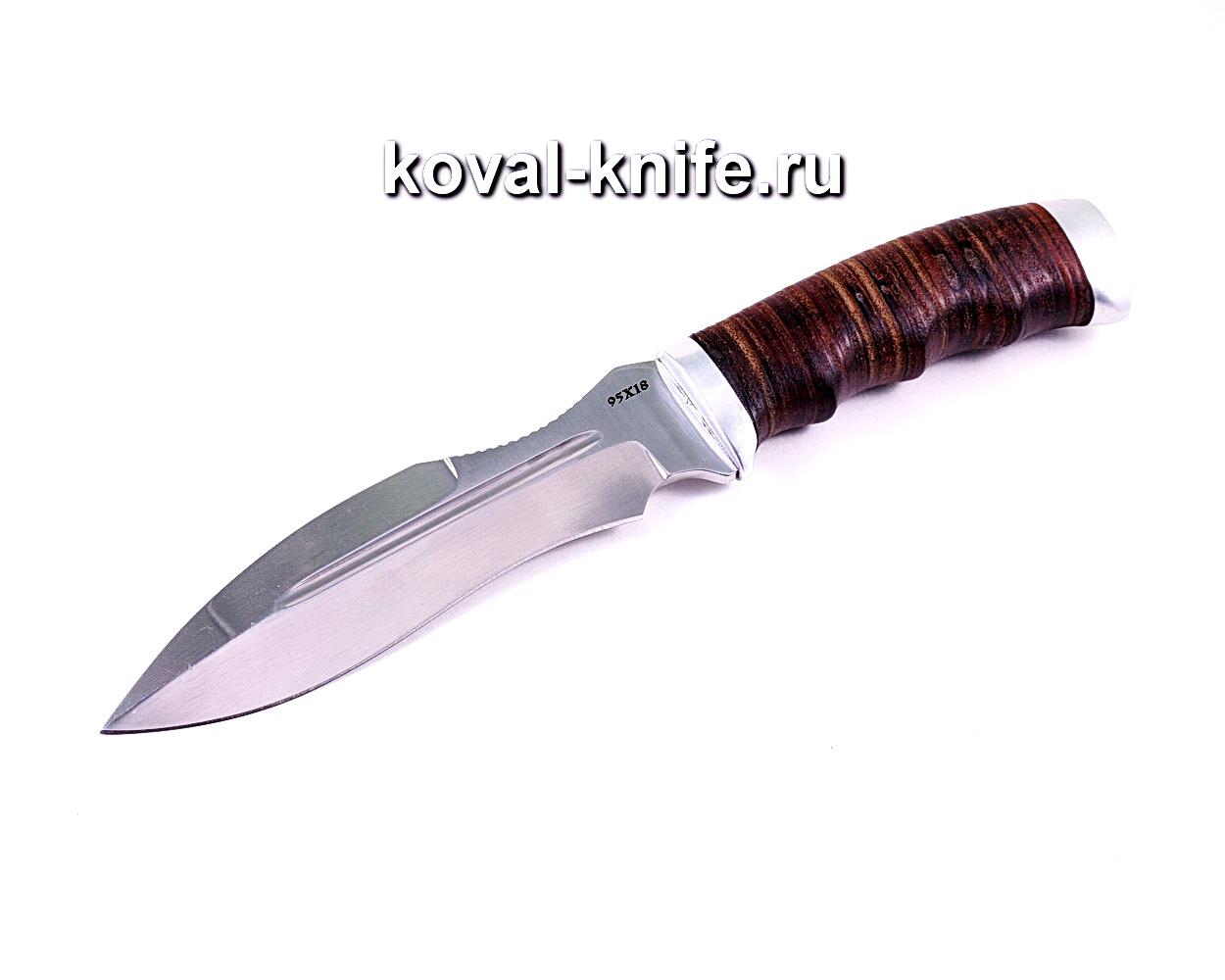 Нож Каратель (сталь 95х18), рукоять кожа A120