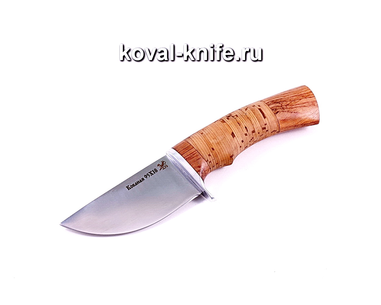 Нож Скин (сталь 95х18), рукоять бубинга, береста A027