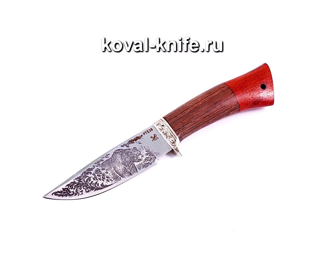 Нож Норвег (сталь 95х18), рукоять венге, падук, литье A026