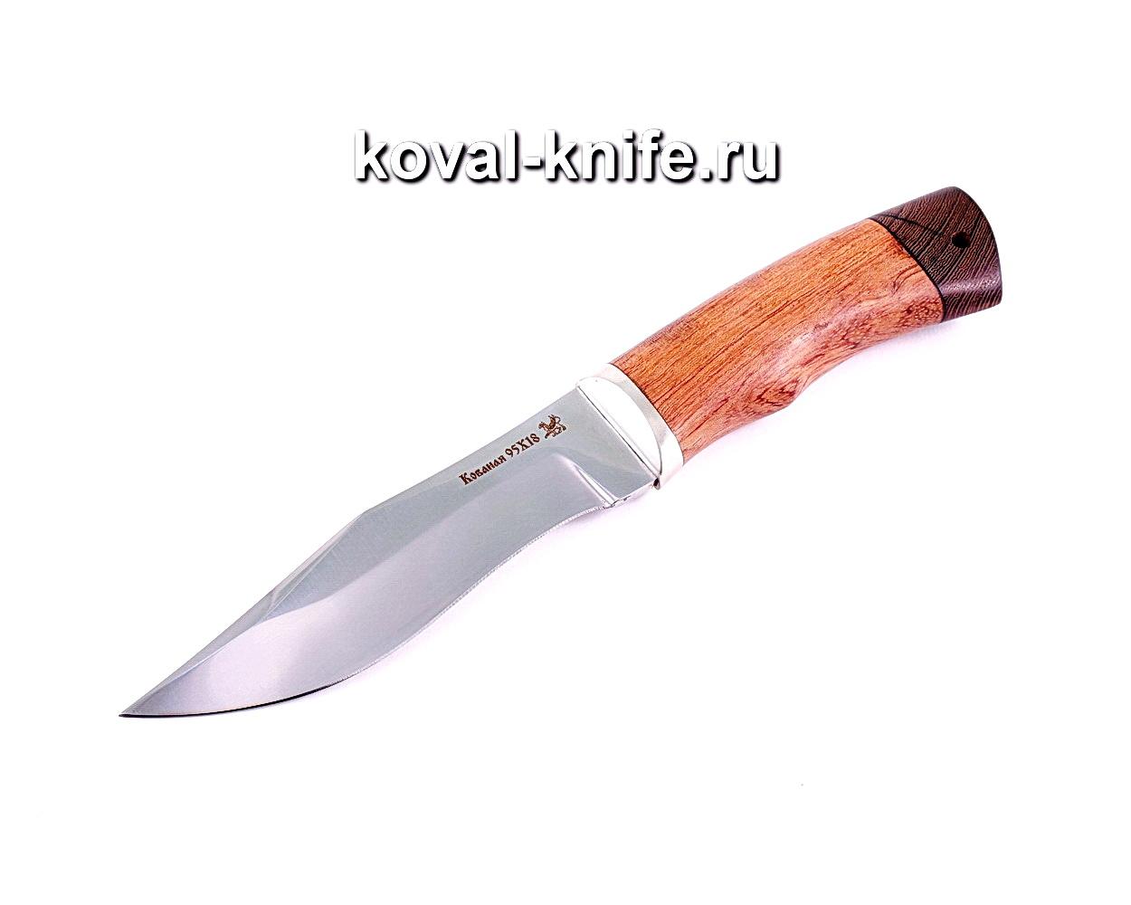 Нож Охотничий (сталь 95х18), рукоять бубинга, венге A014