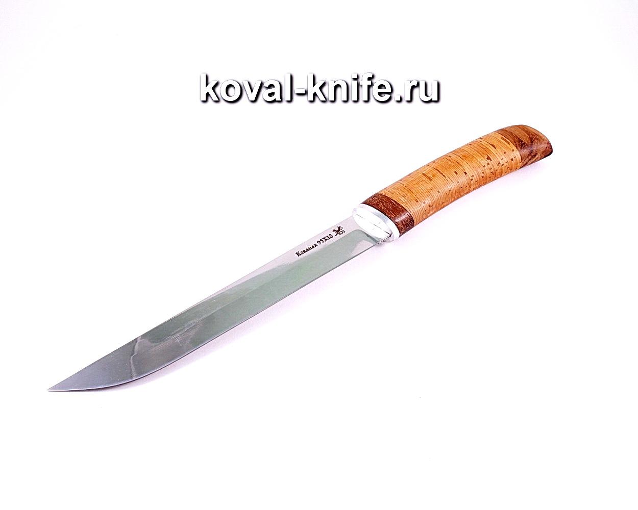 Нож Кухонный (Сталь 95х18), рукоять орех,береста A004