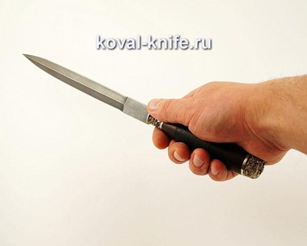 Нож Стилет из дамасской стали