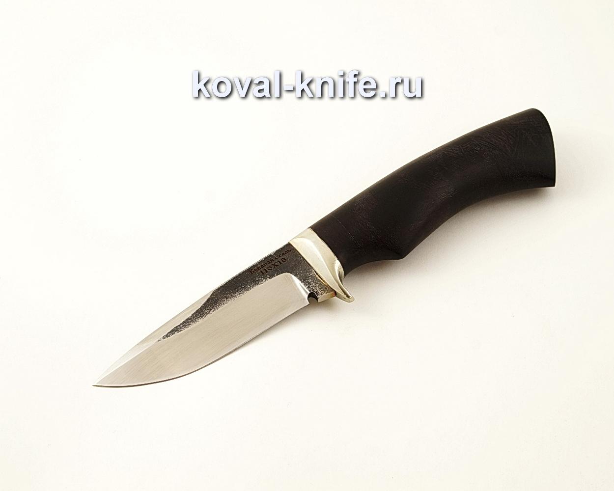 Нож Сапсан из кованой стали 110Х18 с рукоятью из черного граба A592