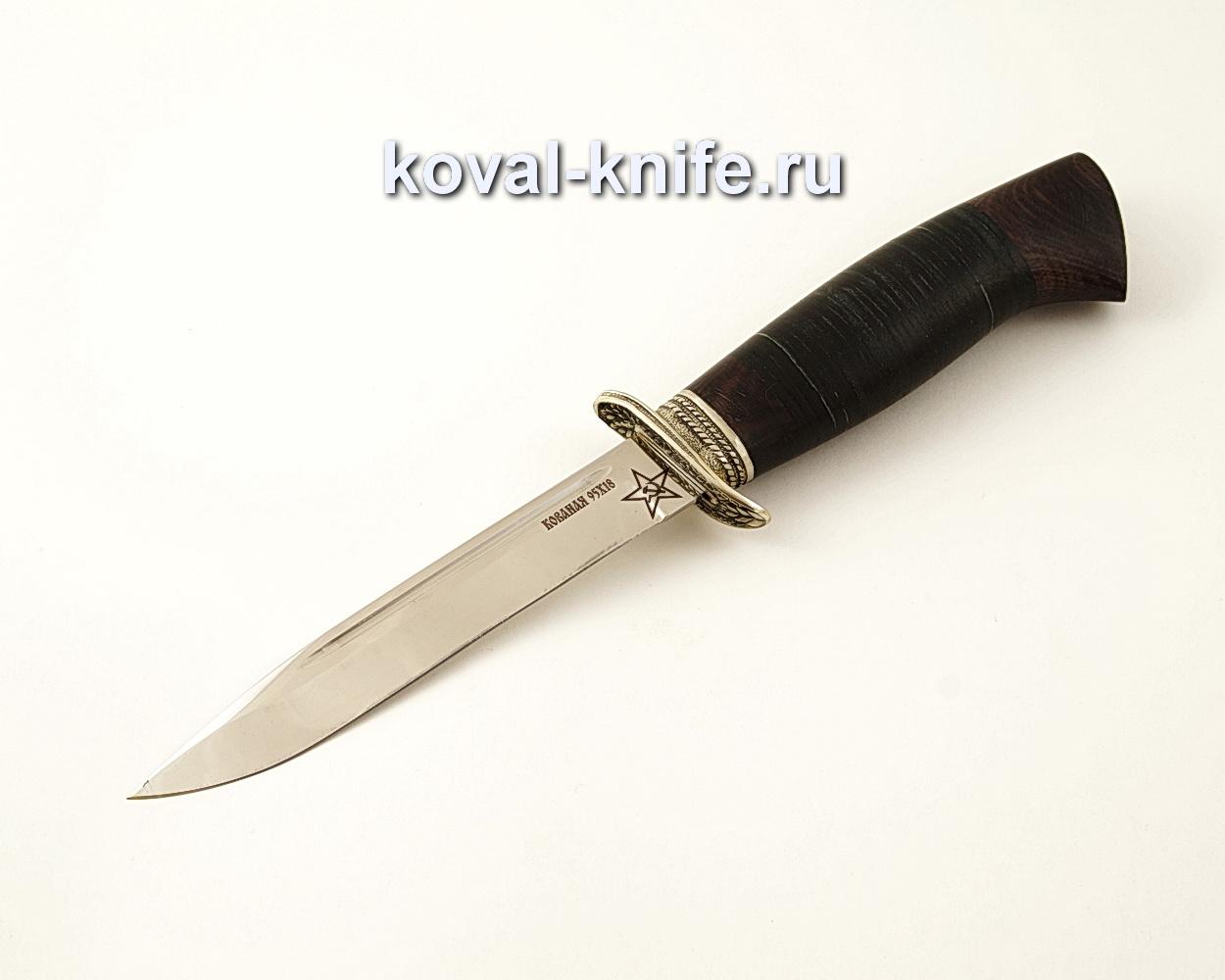 Нож Штрафбат — реплика ножа НР40 из кованой стали 95х18 с рукоятью из кожи и граба A589