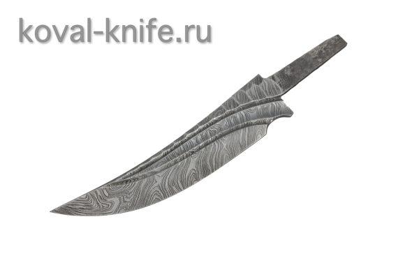 Клинок из Дамасской стали с художественным оформлением Ворон