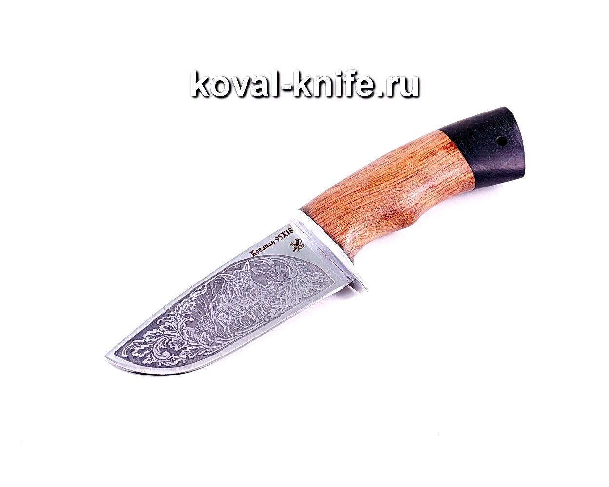 Нож Бобр (Сталь 95Х18), рукоять падук, граб A003