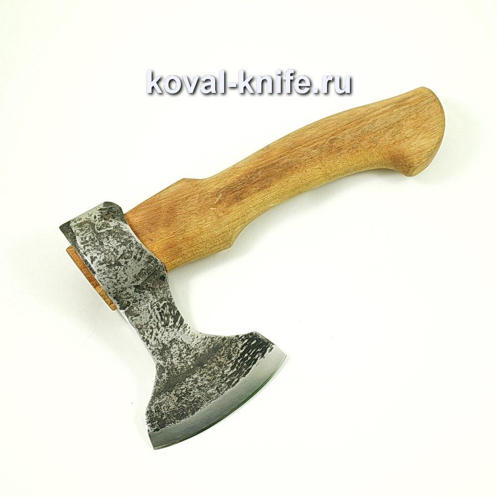 Топор ручной ковки из стали 9хс (рукоять орех) A427
