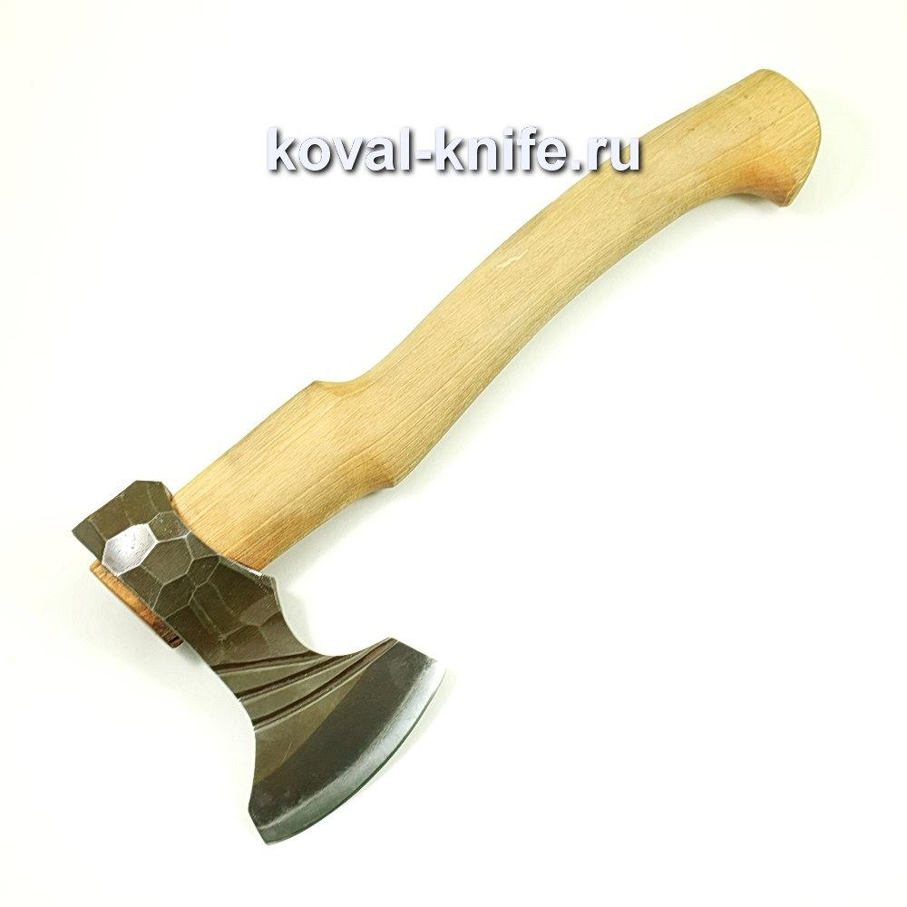 Топор ручной ковки из стали 9хс (рукоять дуб) A428