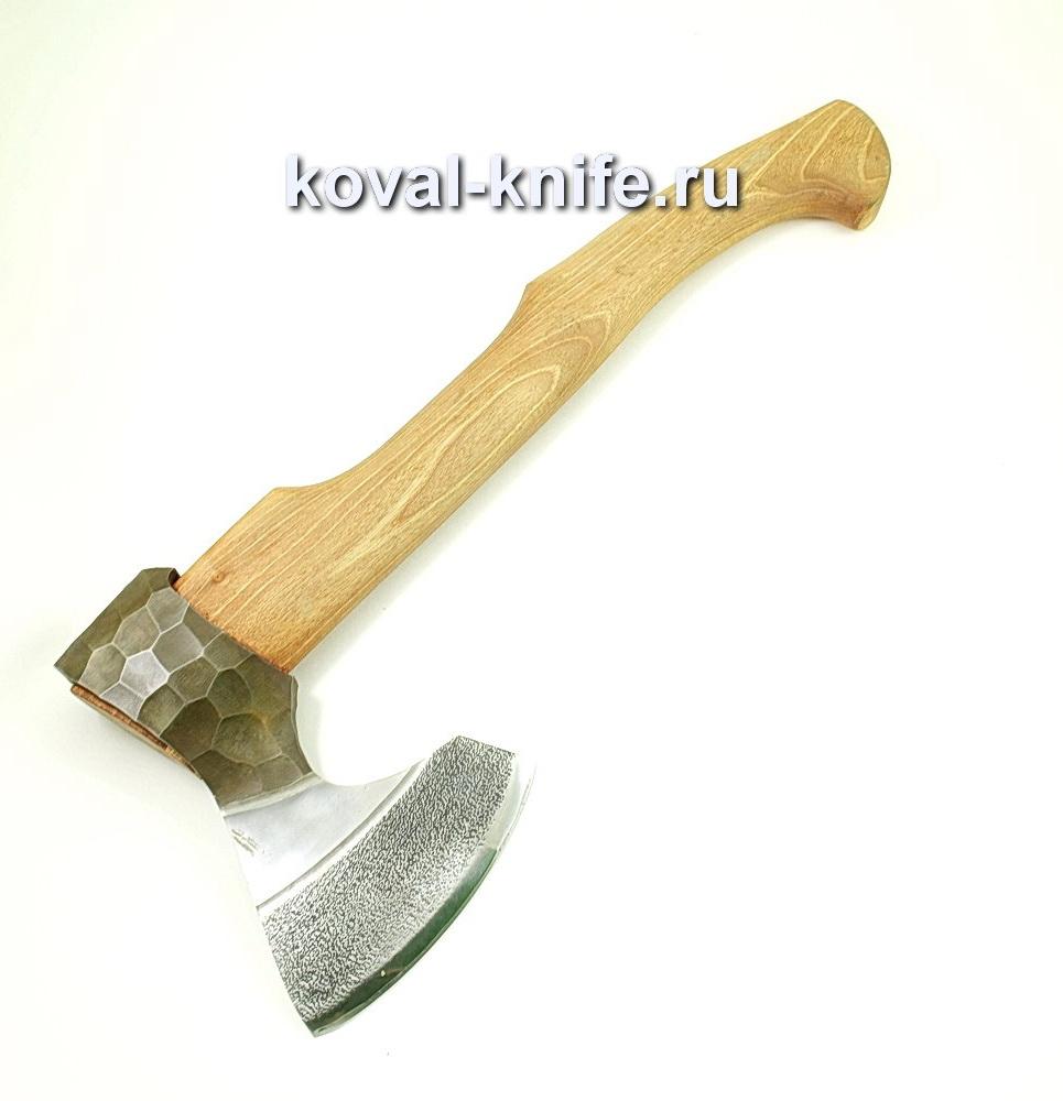 Топор ручной ковки из стали 9хс (рукоять орех) A430
