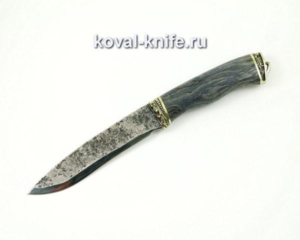 Нож Носорог из стали 9хс с рукоятью из карельской березы