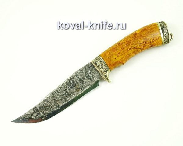 Нож Клыч из стали 9хс с рукоятью из карельской березы