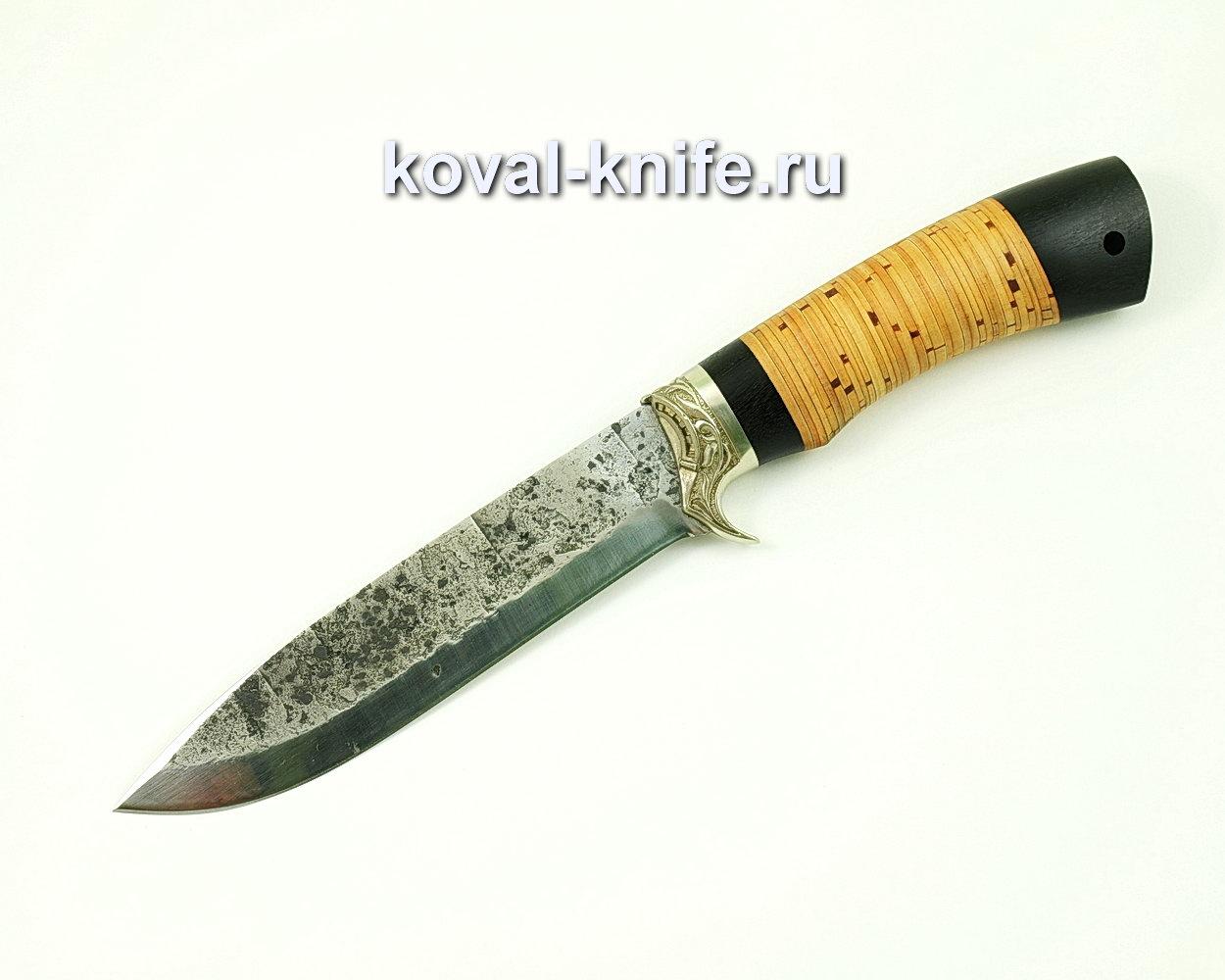 Нож Олимп из стали 9хс (рукоять береста, граб)