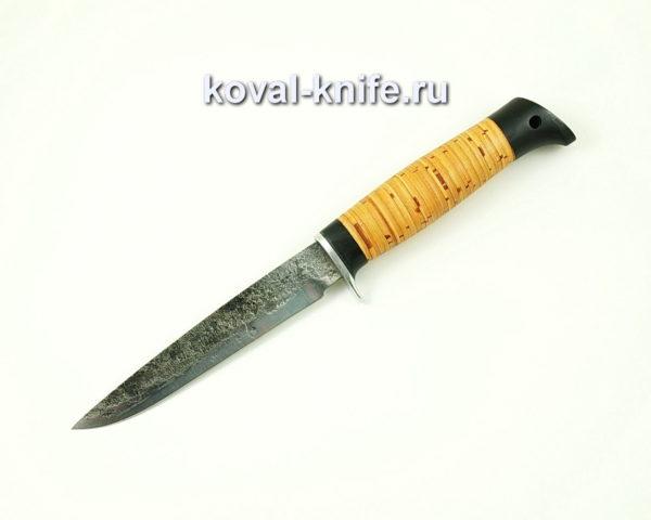 Нож Коготь из стали 9хс с рукоятью из бересты
