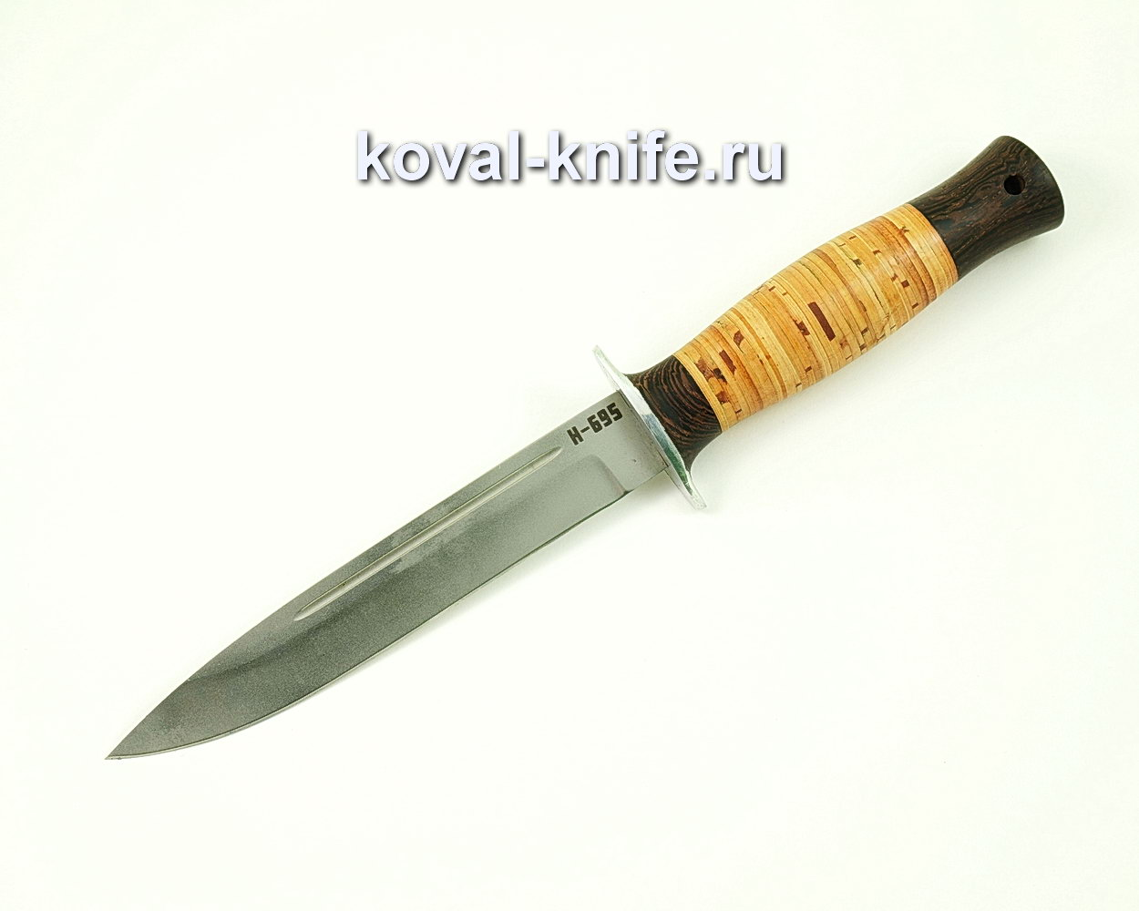 Нож Вишня из нержавеющей стали N695 (рукоять граб, береста) A415