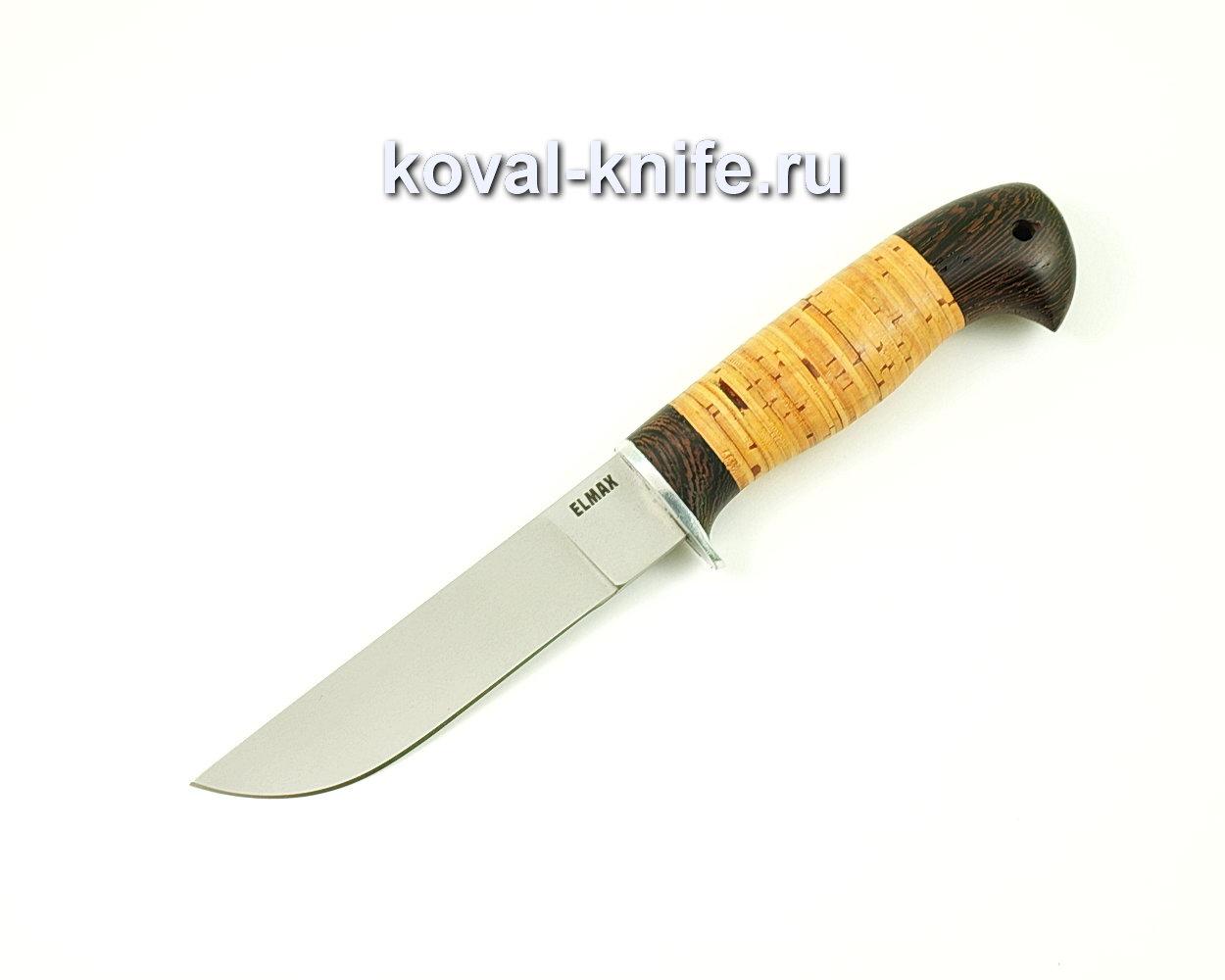 Нож Белка из порошковой стали Elmax (рукоять граб и береста) A394