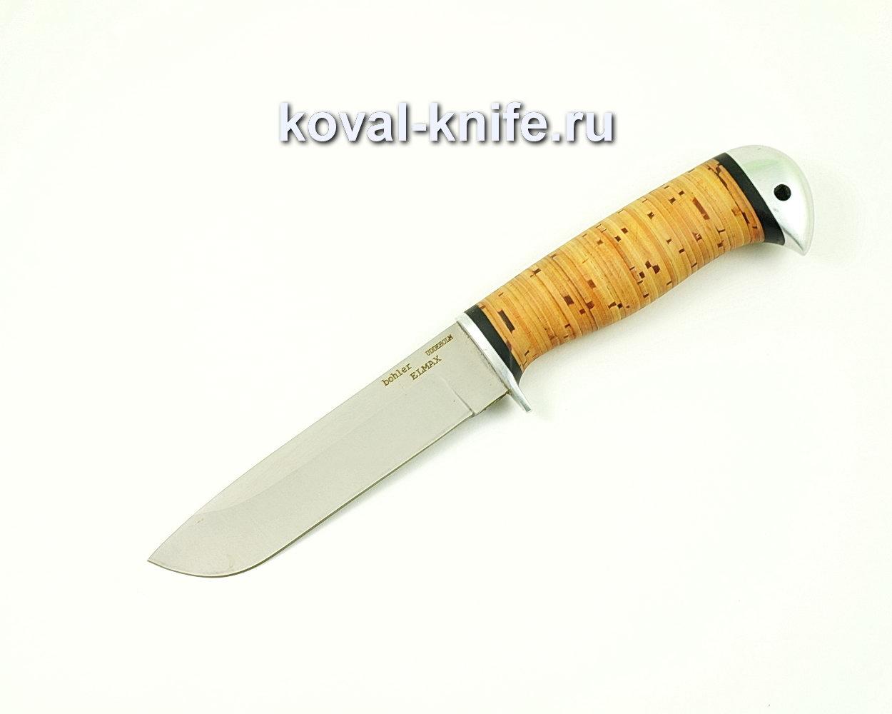 Нож Белка из порошковой стали Elmax (рукоять граб и береста) A395