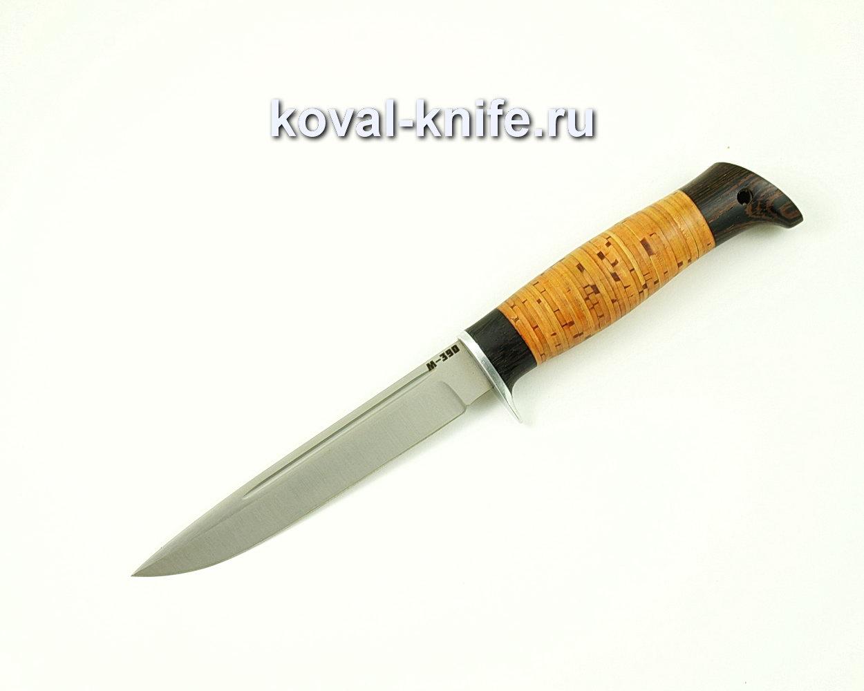 Нож Коготь из порошковой стали M390 (рукоять берста и граб) A392