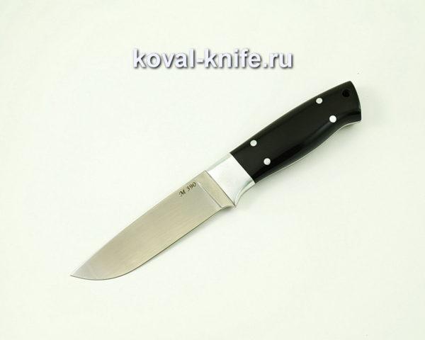 Нож Белка из порошковой стали M390 (рукоять эбонит)