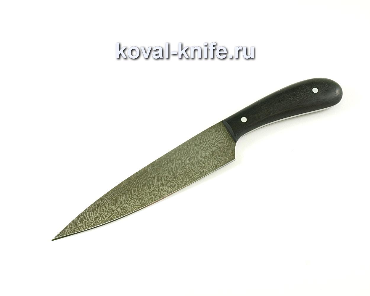 Кухонный средний нож (сталь дамасская), рукоять граб A060