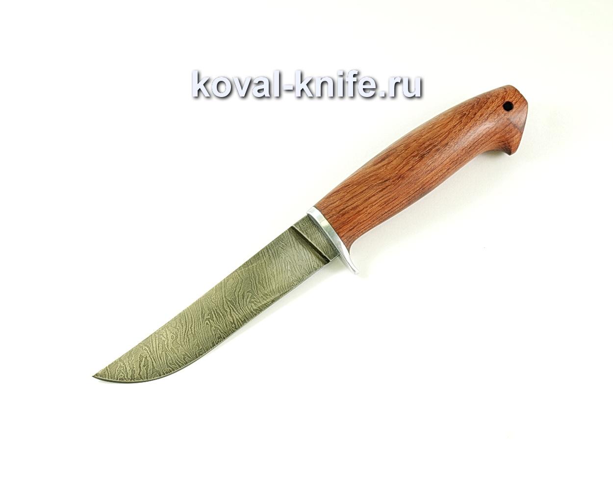 Нож Филейный малый (сталь дамасская), рукоять бубинга A061