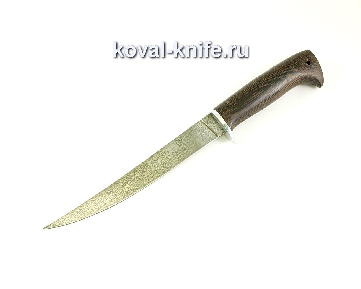 Нож Филейный (сталь дамасская), рукоять венге A063