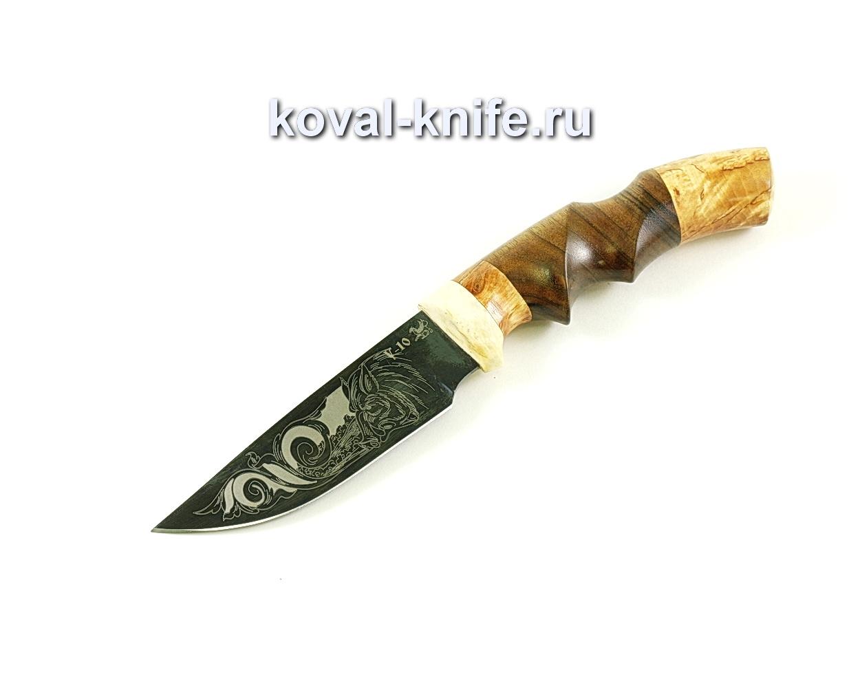 Нож Норвег (сталь У10), рукоять рог, орех, карелка A074