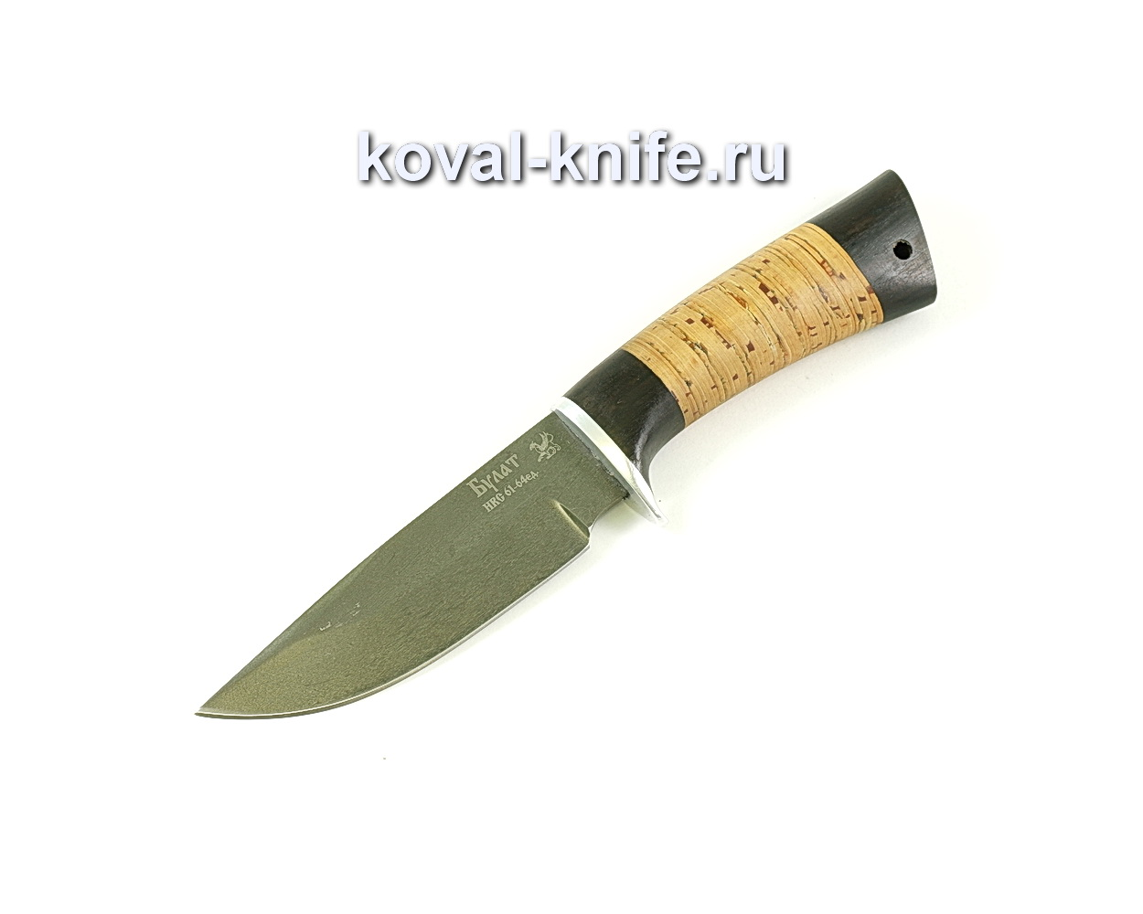 Нож Норвег (сталь Булат) рукоять венге, береста