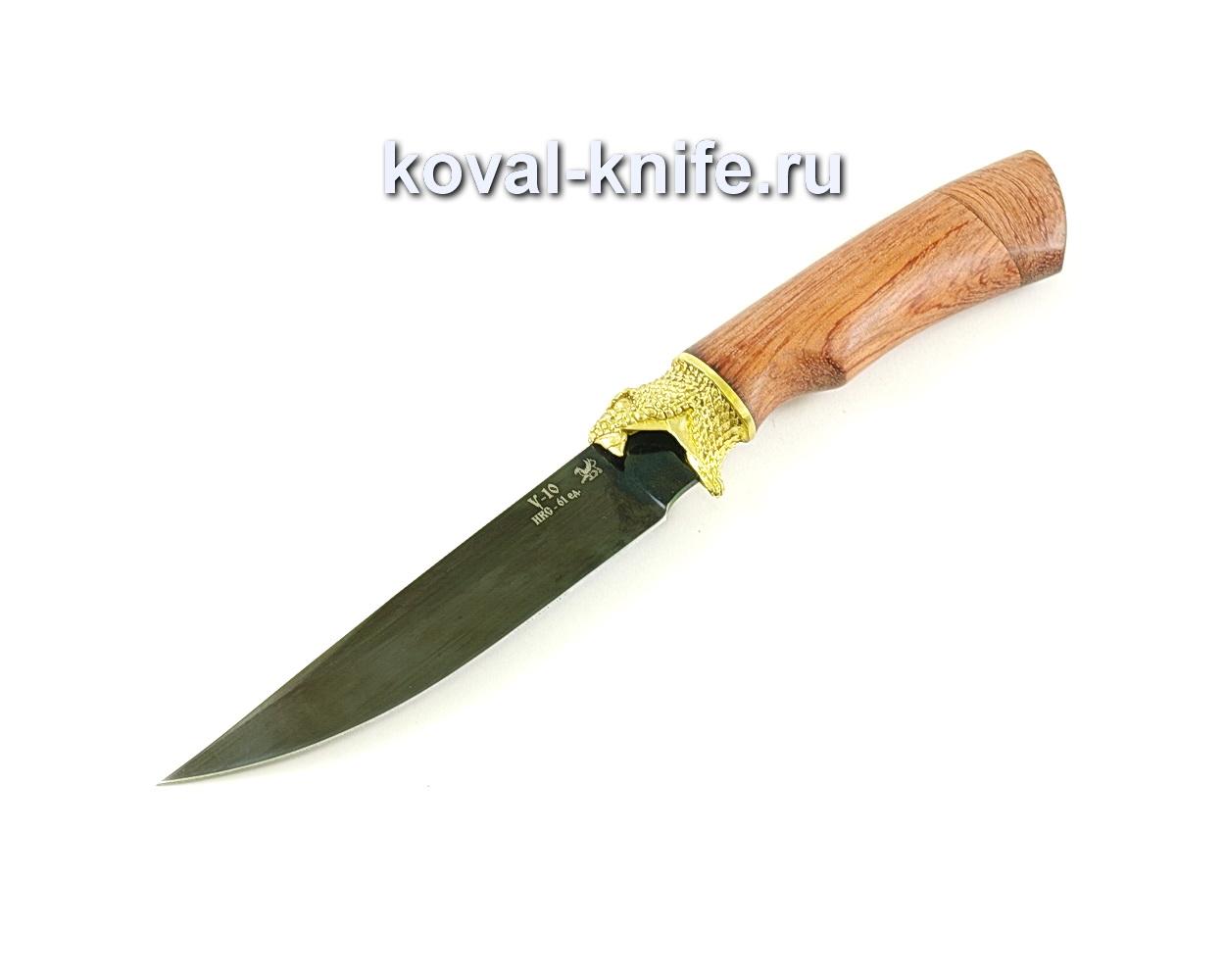 Нож Лис (сталь У10), рукоять бубинга, литье A075